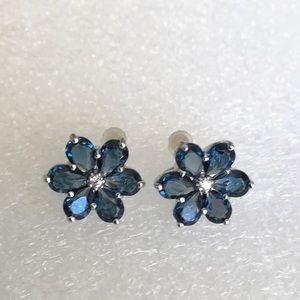 Simply Vera Sterling Flower Earrings